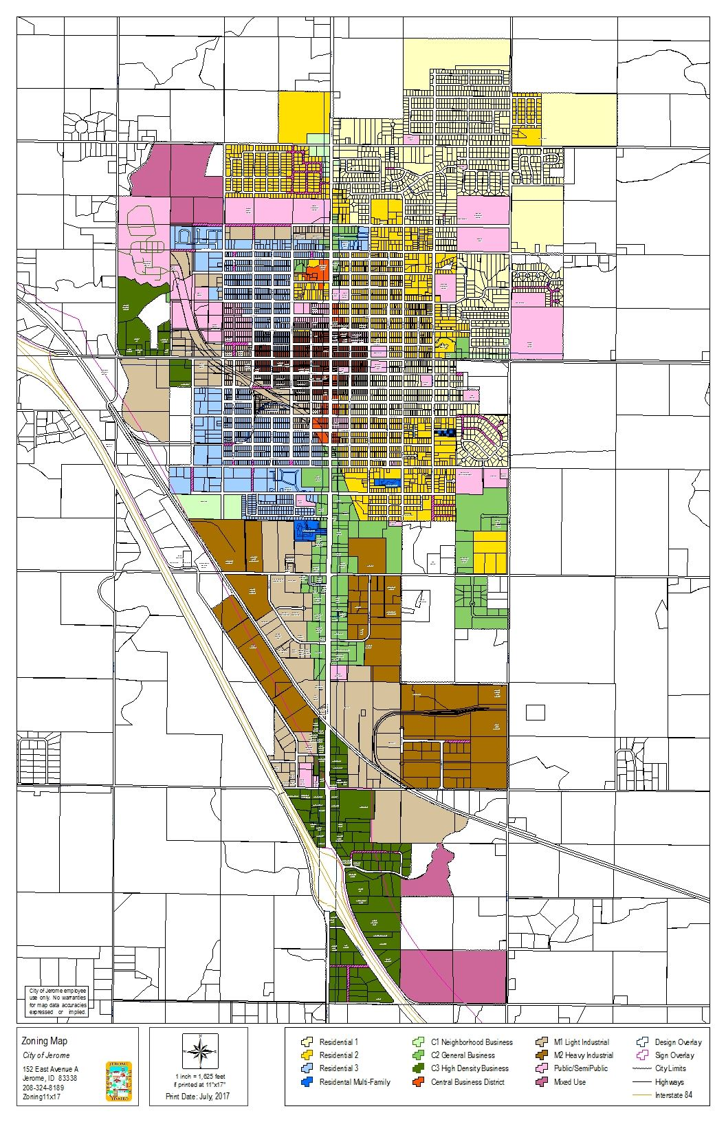Jerome Zoning Map (PDF)