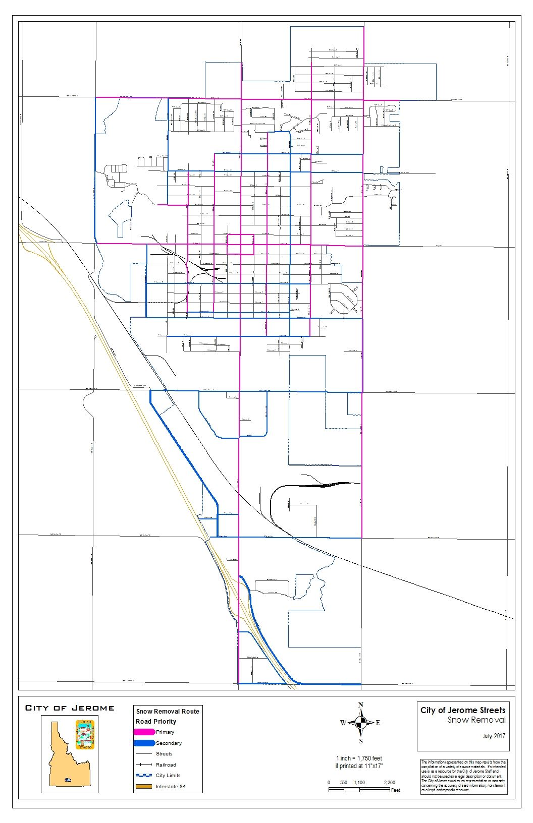 Snow Removal Map (PDF)