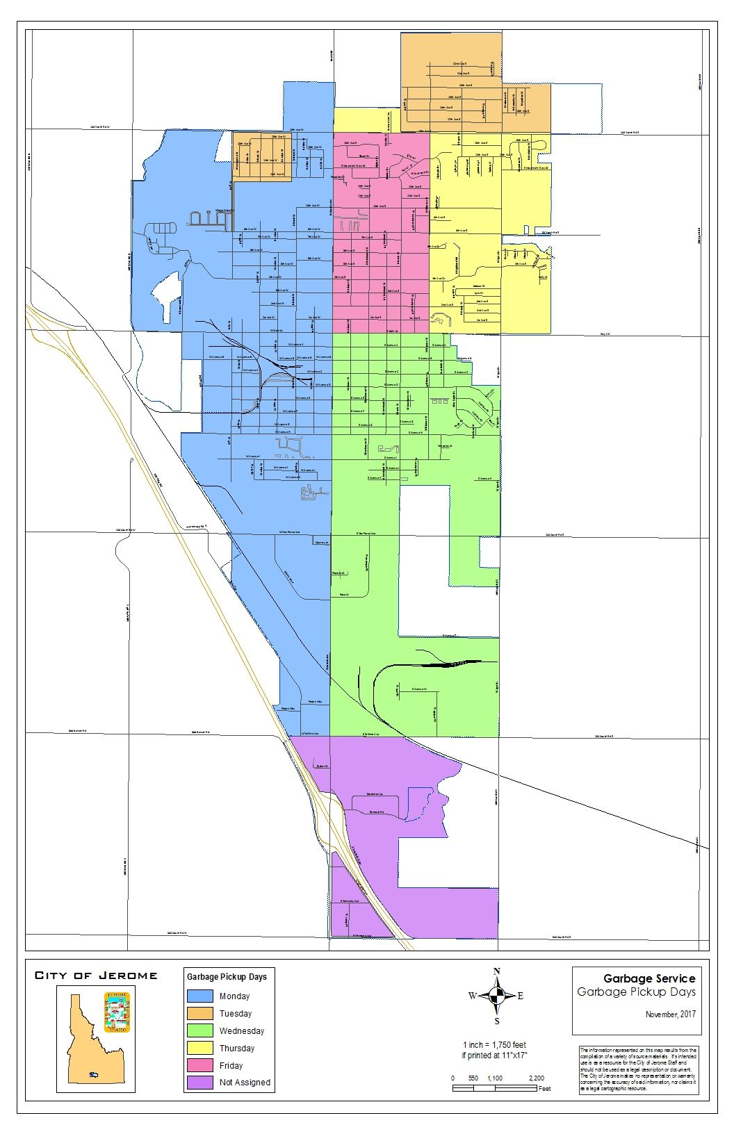 Garbage Pickup Map (PDF)