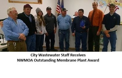 City Wastewater Staff Receiving an Award