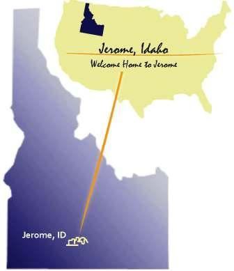 Map of Idaho with Jerome Highlighted